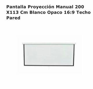 PANTALLA PROYECCIÓN MANUAL 200x 113 BLANCO OPACO