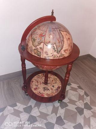 mueble bar, bola del mundo