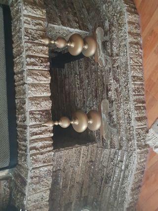 Conjunto de bronce de chimenea