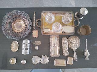 Conjunto de tocador de plata