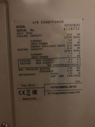 Condensadora Fujitsu
