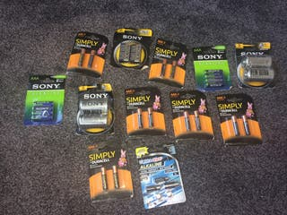 12 PACKS ASSORTED BATTERIES!