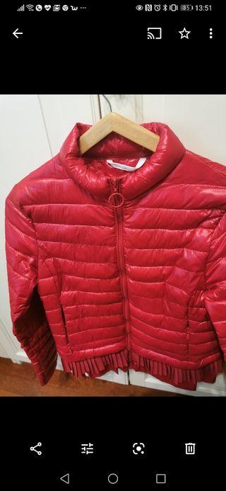 chaqueta italiana ligera color guinda