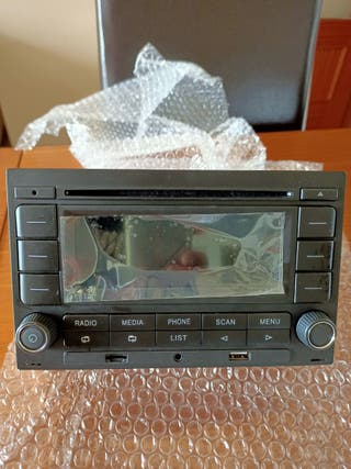 Radio CD bluetooth puerto USB, entrada auxiliar, t