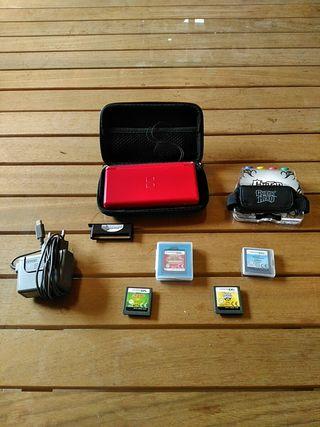 Nintendo DS con juegos