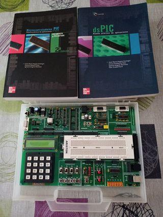 grabador de pic con libros de electrónica