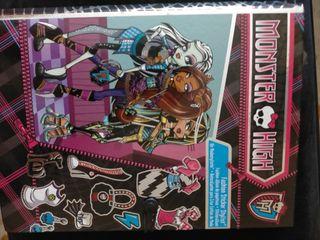 Libreta Fashion Sticker Stylist Monster High.