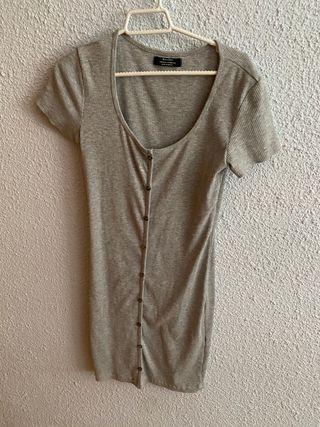 Vestido Bershka gris