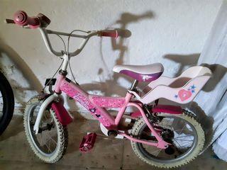 Bicicleta Barbie en torno al 7, 8 años