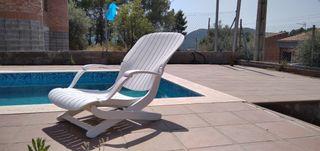 silla hamaca piscina jardin