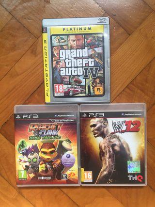 Juegos PS3 GTA, Ratchet & Clank y WWE
