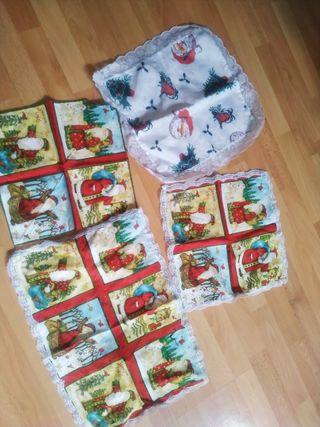 pack Navidad servilletas, tapetes..
