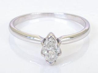 anillo compromiso Oro Blanco y diamente