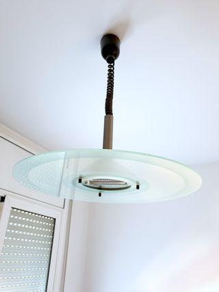 lámpara de techo halogena de vidrio