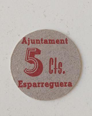 billete local 5 centimos esparreguera