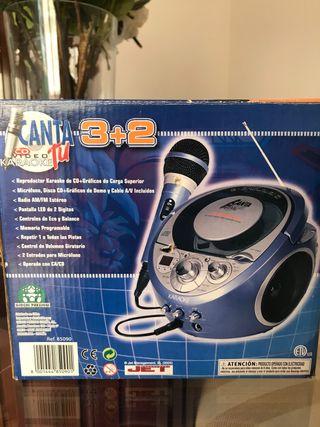 Karaoke con microfono