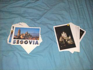 postales de segovia, catedral y alcázar