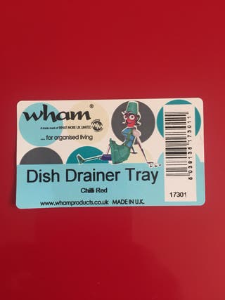 Dish drainer tray colour chilli red.