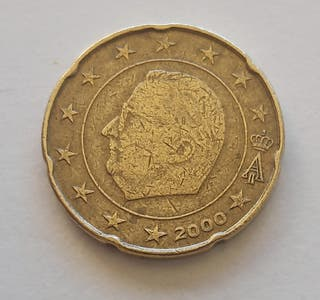 Moneda 20 cent BELGAS primera serie año 2000