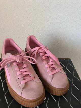 Zapatillas PUMA rosas mujer (talla 38)