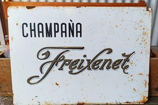 Cartel antiguo chapa Freixenet