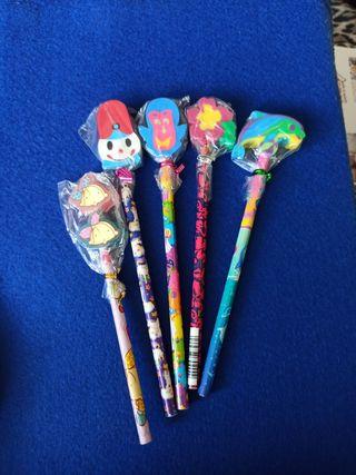 5 Lápices con goma
