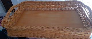 cesta de mimbre para ropa plancha