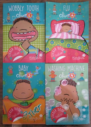 Sticker book kids & us curso Oliver