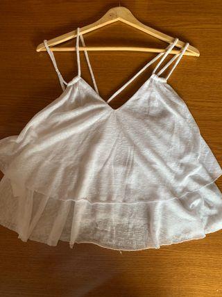 Top blanco vestir