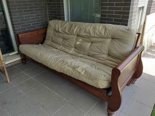 Sofá cama madera cerezo