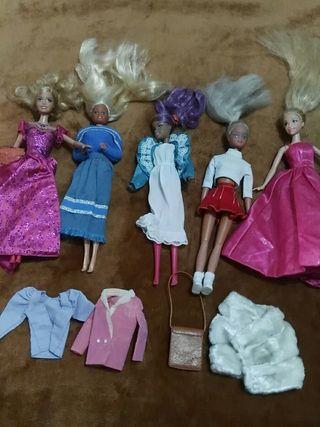 7 muñecas y ropa de ropa famosa y barbie