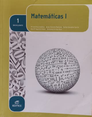 Libro de texto de Matemáticas 1º Bachillerato