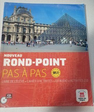 Libro Francés Rond-Point B1 1 de Bachillerato