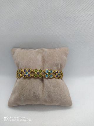 Pulsera oro maciza - pulsera oro topacios