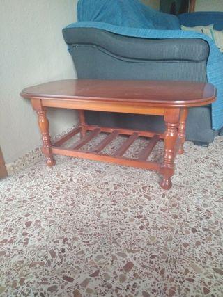 mesa de centro rústica, mueble colonial