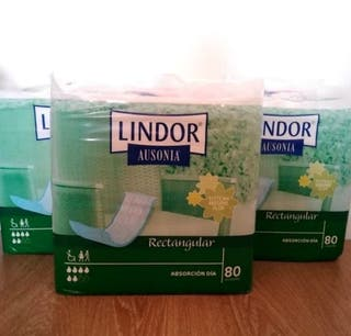 3 paquetes Pañales adulto Lindor 80 unidades