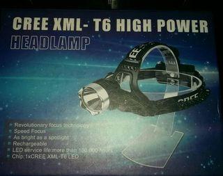 linterna frontal sin estrenar CREE XML - T6 LED