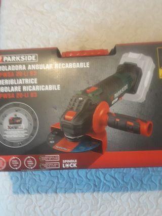 amoladora 20 V.angular radial recargable Parkside