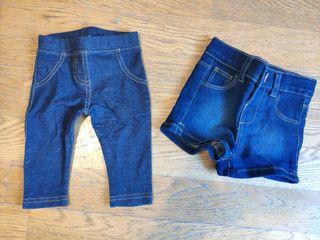 Pantalones vaqueros de bebé (tallas 0-3 y 3-6)