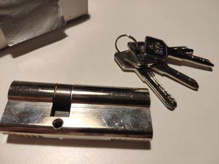 Cerradura puerta cilindro seguridad 80mm