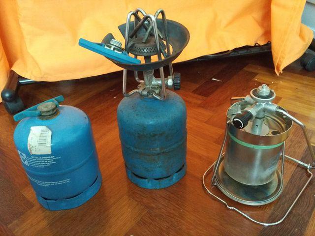 Camping gas + linterna de gas