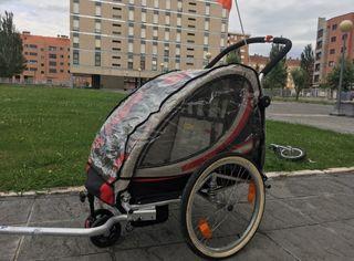 remolque bicicleta para niño