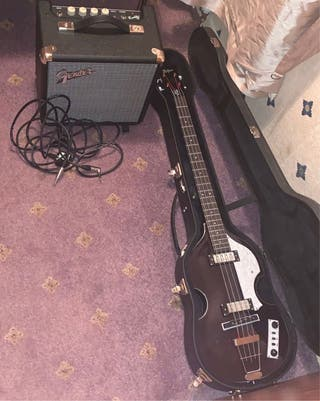 Hofner with Hofner case cables and amp