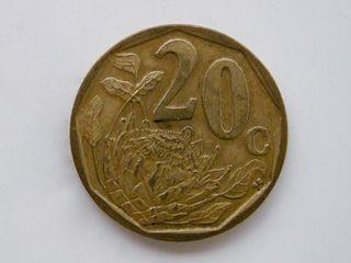 MONEDA DE 20 CENTIMOS DE RAND - SUDAFRICA 2006