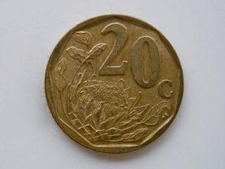 MONEDA DE 20 CENTIMOS DE RAND - SUDAFRICA 2004