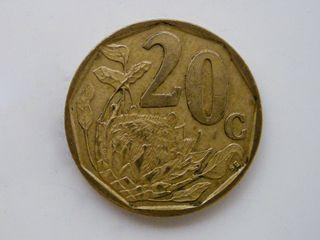 MONEDA DE 20 CENTIMOS DE RAND - SUDAFRICA 1997