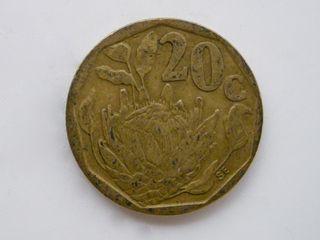 MONEDA DE 20 CENTIMOS DE RAND - SUDAFRICA 1993