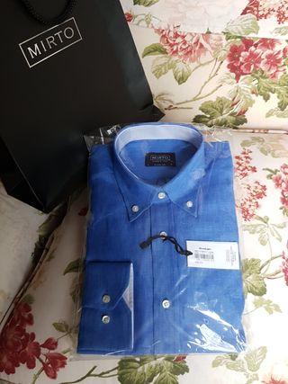 Camisa de Lino Mirto talla 3/M