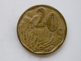 MONEDA DE 20 CENTIMOS DE RAND - SUDAFRICA 2005