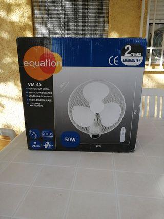 Ventilador eléctrico de pared